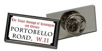 Portobello Road Rectangle Pin Badge