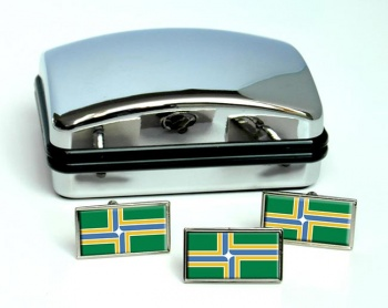 Portland OR  Flag Cufflink and Tie Pin Set