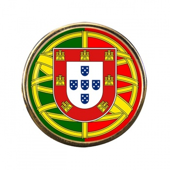 Brasao de armas de Portugal Round Pin Badge