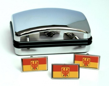 Potsdam (Germany) Flag Cufflink and Tie Pin Set