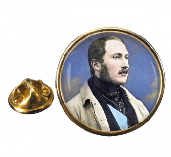 Albert Prince Consort Round Pin Badge