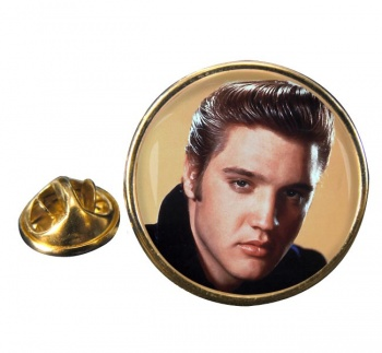 Elvis Presley Round Pin Badge