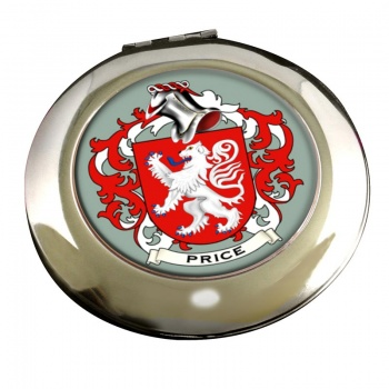Price Coat of Arms Chrome Mirror