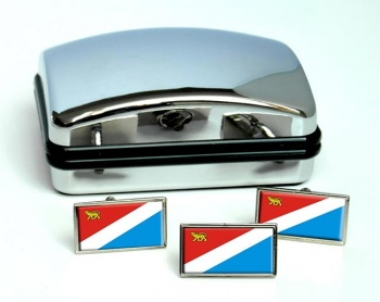 Primorsky Krai Flag Cufflink and Tie Pin Set