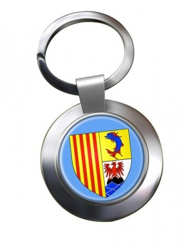 Provence-Alpes-Cote d'Azur (France) Metal Key Ring