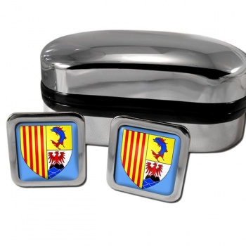 Provence-Alpes-Cote d'Azur France Square Cufflinks