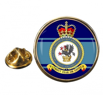 Headquarters Provost Security Services United Kingdom (RAF) Round Pin Badge