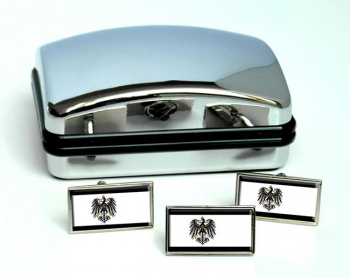 Prussia (Germany) Flag Cufflink and Tie Pin Set