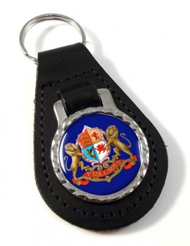 Pullman Train Crest Leather Keyfob