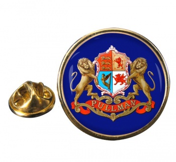 Pullman Train Crest Round Lapel