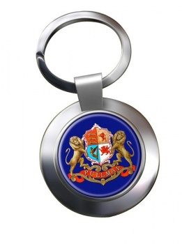Pullman Train Crest Chrome Key Ring