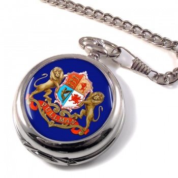 Pullman Train Crest Pocket Watch