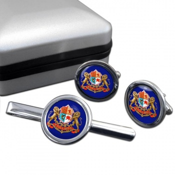 Pullman Train Crest Cufflink and Tie Clip Set
