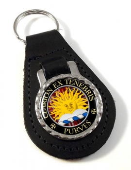 Purves Scottish Clan Leather Key Fob