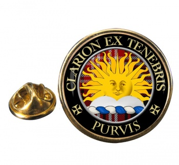 Purvis Scottish Clan Round Pin Badge