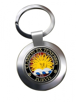 Purvis Scottish Clan Chrome Key Ring