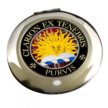 Purvis Scottish Clan Chrome Mirror
