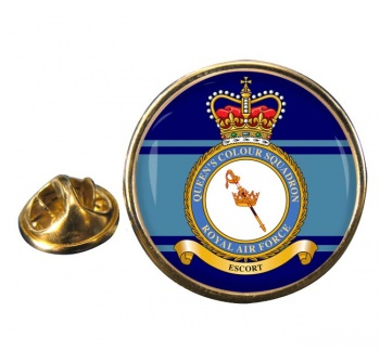 Queen's Colour Squadron (Royal Air Force) Round Pin Badge