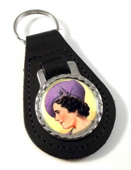 Elizabeth Queen Consort Leather Key Fob