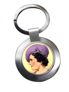 Elizabeth Queen Consort Chrome Key Ring