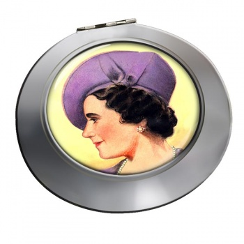 Elizabeth Queen Consort Chrome Mirror