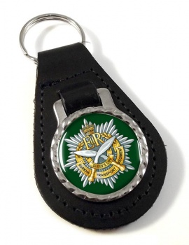 Queen's Own Gurkha Transport Regiment Leather Key Fob