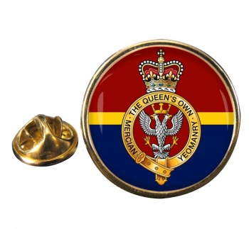 Queen's Own Mercian Yeomanry (British Army) Round Pin Badge