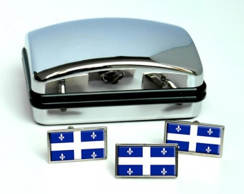 Quebec Province (Canada) Flag Cufflink and Tie Pin Set