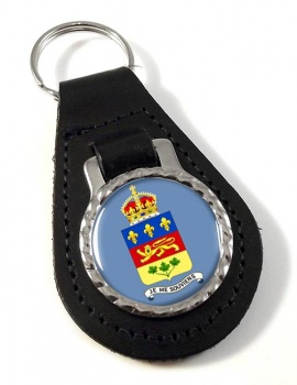 Quebec Province (Canada) Leather Key Fob