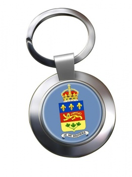 Quebec Province (Canada) Metal Key Ring