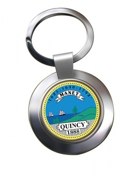 Quincy MA  Metal Key Ring