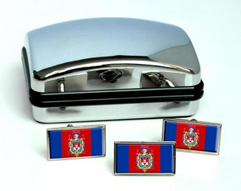 Quito Flag Cufflink and Tie Pin Set