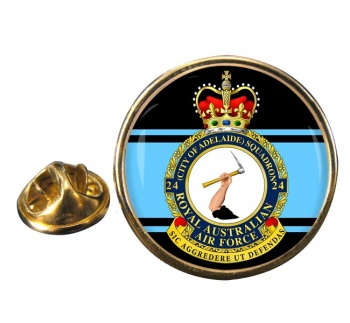 24 Squadron RAAF Round Pin Badge