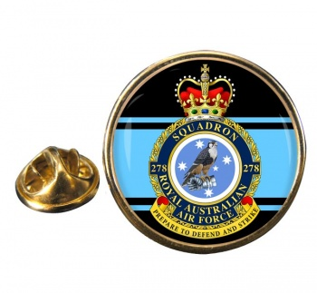 278 Squadron RAAF Round Pin Badge