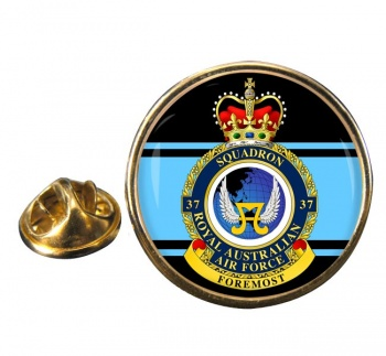 37 Squadron RAAF Round Pin Badge
