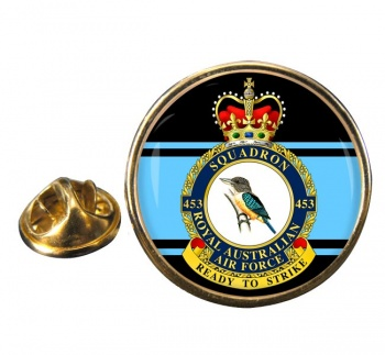 453 Squadron RAAF Round Pin Badge
