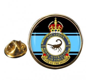 459 Squadron RAAF Round Pin Badge