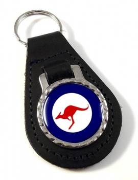RAAF Roundel Leather Key Fob