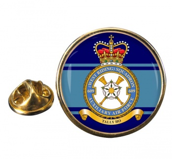 No. 609 Squadron RAuxAF Round Pin Badge