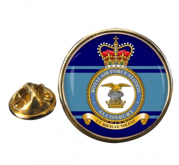 RAF Station Alconbury Round Pin Badge