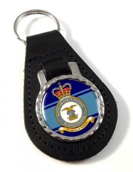 RAF Station Burtonwood Leather Key Fob