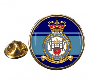 RAF Station Kenley Round Pin Badge