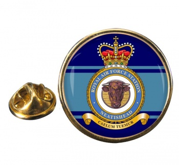 RAF Station Neatishead Round Pin Badge