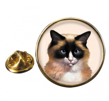 Ragdoll Cat Round Pin Badge