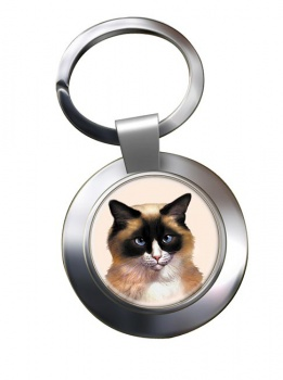 Ragdoll Cat Metal Key Ring