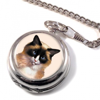Ragdoll Cat Pocket Watch