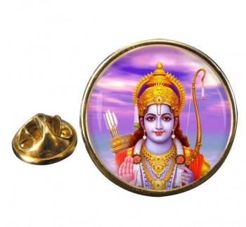 Rama Round Pin Badge
