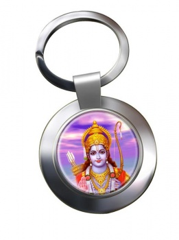 Rama Leather Chrome Key Ring
