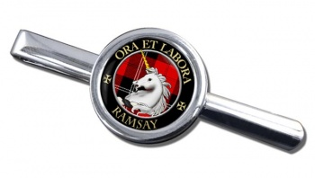 Ramsay Scottish Clan Round Tie Clip