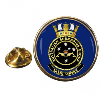 Submarines Group R.A.N. Round Pin Badge